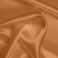 Silk Crepe backed Satin Heavy - Apricot (Dyed To Order)