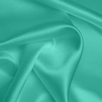 Silk Crepe backed Satin Heavy - Aqua (Dyed To Order)