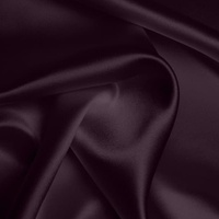 Silk Crepe backed Satin Heavy - Blackberry (Dyed To Order)