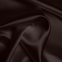 Silk Crepe backed Satin Heavy - Cocoa (Dyed To Order)