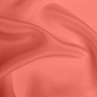 Silk Crepe de Chine Heavy - Coral (Dyed To Order)