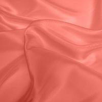 Silk Dupion Medium - Coral (Dyed To Order)