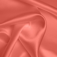 Silk Crepe backed Satin Heavy - Coral (Dyed To Order)