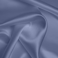 Silk Crepe backed Satin Heavy - Cornflower (Dyed To Order)