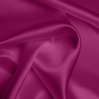 Silk Crepe backed Satin Heavy - Crushed Raspberry (Dyed To Order)