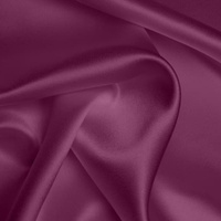 Silk Crepe backed Satin Heavy - Damson Purple