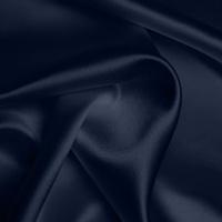 Silk Crepe backed Satin Heavy - Dark Navy