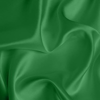 Silk Crepe backed Satin Medium - Emerald Green