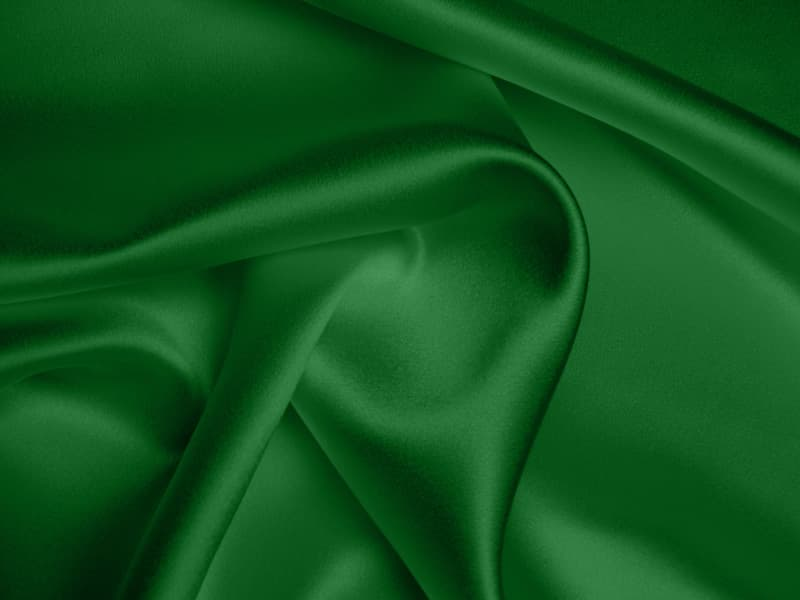 Silk Crepe Backed Satin Heavy Emerald Green Beckford Silk