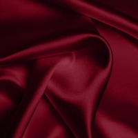 Silk Crepe backed Satin Heavy - Garnet (Dyed To Order)