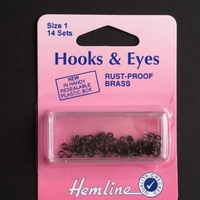 Hook and Eye Black - Size 1