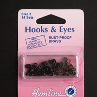 Hook and Eye Black - Size 3