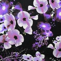 Midnight Flower Plum Crepe de Chine