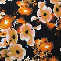 Midnight Flower Copper Crepe de Chine