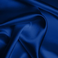 Silk Crepe backed Satin Heavy - Indigo (Dyed To Order)