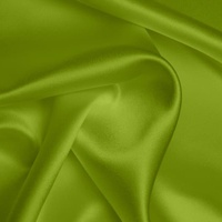 Silk Crepe backed Satin Heavy - Lime (Dyed To Order)