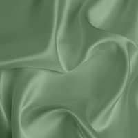 Silk Crepe backed Satin Medium - Moss Green