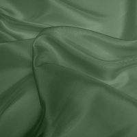 Silk Dupion Medium - Moss Green (Dyed To Order)
