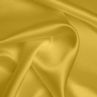 Silk Crepe backed Satin Heavy - Ochre (Dyed To Order)