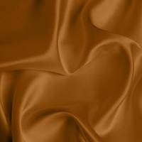 Silk Crepe backed Satin Medium - Orange Rust