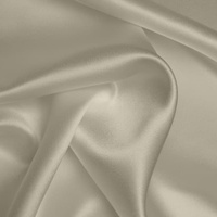 Silk Crepe backed Satin Heavy - Pale Cream