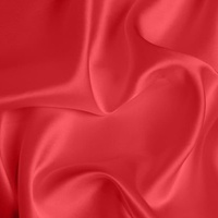 Silk Crepe backed Satin Medium - Poppy
