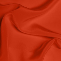 Silk Crepe de Chine Medium - Scarlet