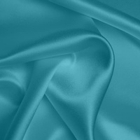 Silk Crepe backed Satin Heavy - Sky Blue (Dyed To Order)