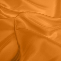 Silk Dupion Medium - Tangerine (Dyed To Order)