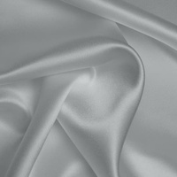 Silk Crepe backed Satin Heavy - Titanium Silver
