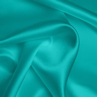 Silk Crepe backed Satin Heavy - Turquoise