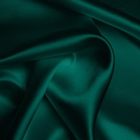 Silk Crepe backed Satin Heavy - Ultramarine Green (Dyed To Order)