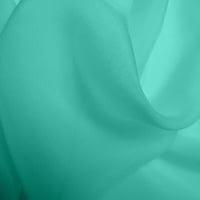 Silk Chiffon - Aqua (Dyed To Order)
