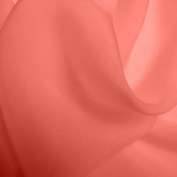 Silk Chiffon - Coral (Dyed To Order)