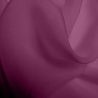 Silk Chiffon - Damson Purple (Dyed To Order)