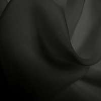 Silk Chiffon - Dark Grey (Dyed To Order)