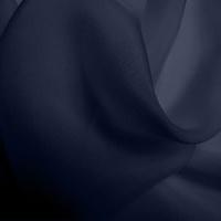 Silk Chiffon - Dark Navy (Dyed To Order)