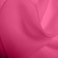 Silk Chiffon - Hot Pink (Dyed To Order)