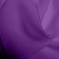 Silk Chiffon - Mid Purple (Dyed To Order)