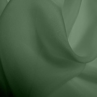 Silk Chiffon - Moss Green (Dyed To Order)