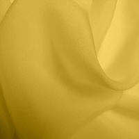 Silk Chiffon - Ochre (Dyed To Order)
