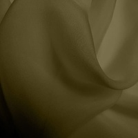 Silk Chiffon - Olive Green (Dyed To Order)