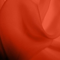 Silk Chiffon - Scarlet (Dyed To Order)