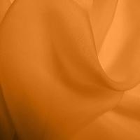 Silk Chiffon - Tangerine (Dyed To Order)