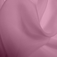 Silk Chiffon - Vintage rose  (Dyed To Order)