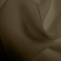 Silk Chiffon - Walnut (Dyed To Order)