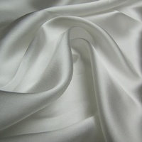 Silk/Viscose Satin - Natural White
