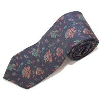 Navy Floral Mens Tie