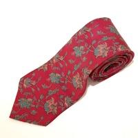 Red Floral Mens Tie