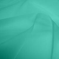 Silk Organza - Aqua (Dyed To Order)